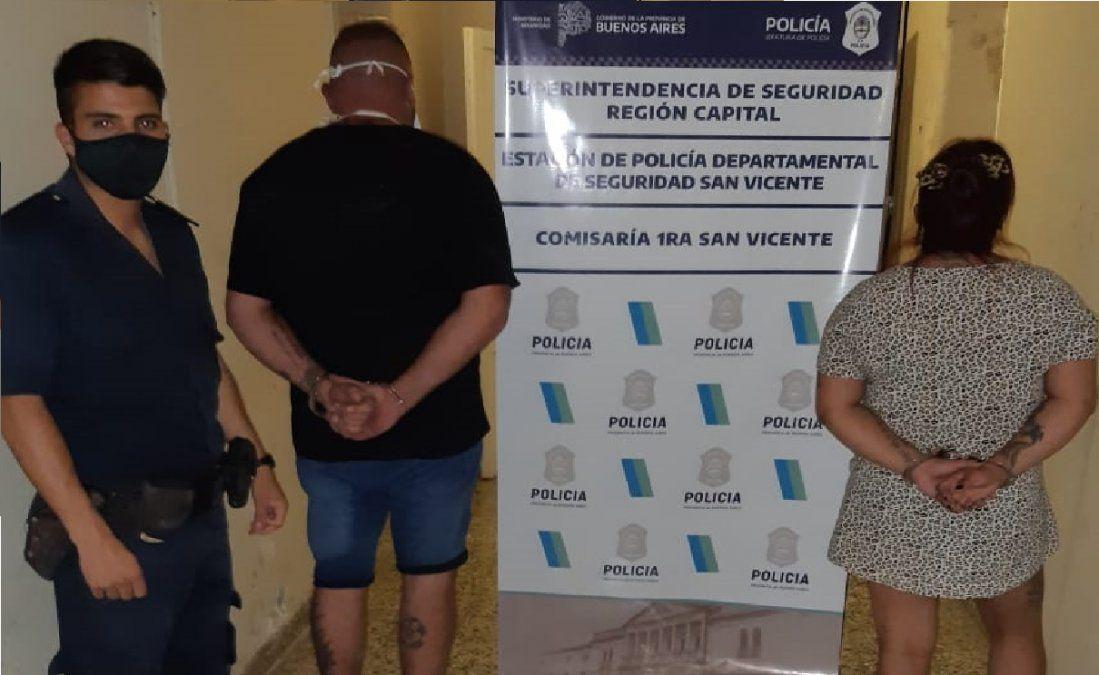 Pareja detenida en San Vicente con drogas para vender: ella es policía
