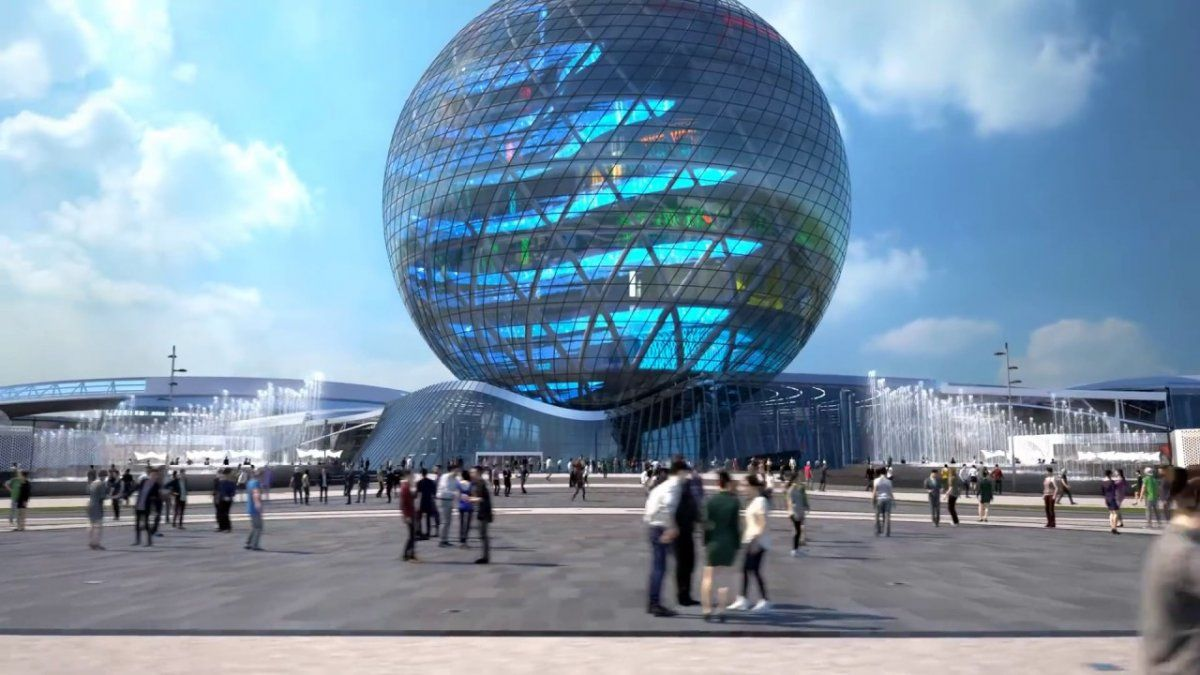 La Expo Astaná de arquitectura de 2017.