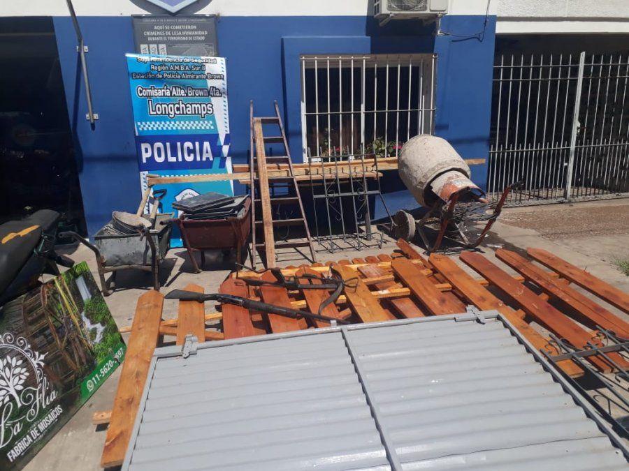 Detenidos por una entradera en Longchamps