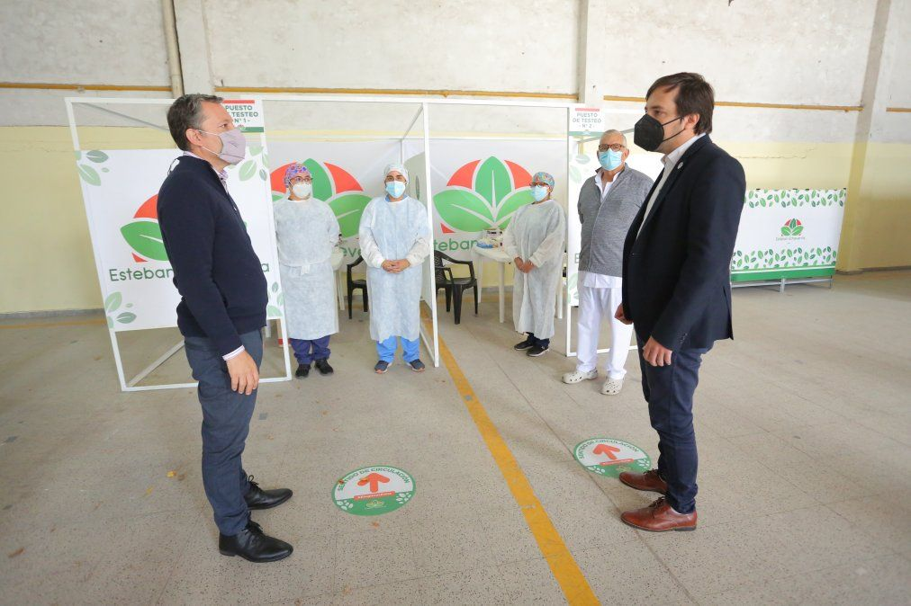 Inauguraron un nuevo centro de testeos en Esteban Echeverría