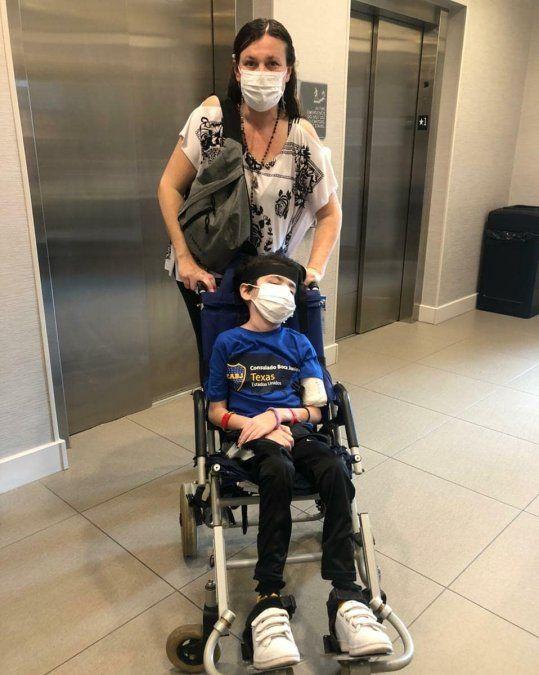 Ezeiza: Agustín Vidal comenzó su tratamiento en Texas