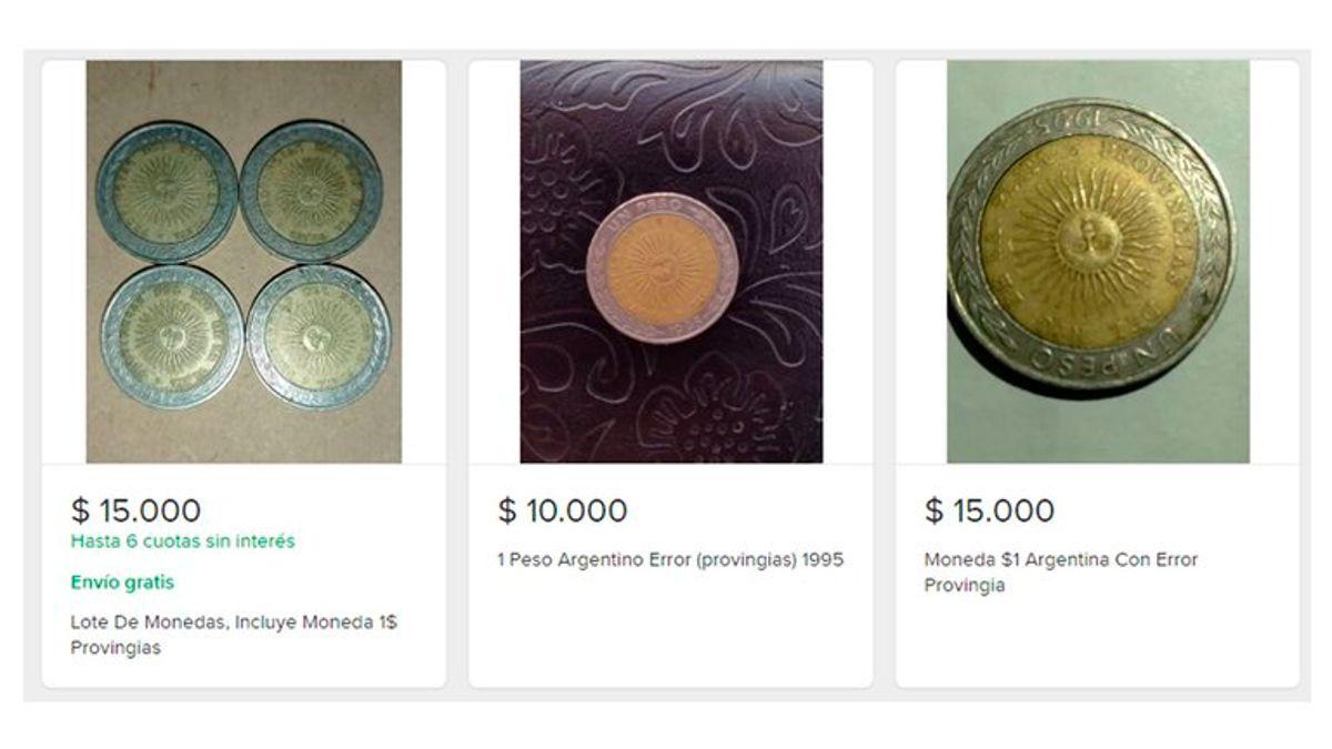 """""""Provincias"""" por """"provingias"""", el error que hace cotizar hasta en $15.000 a las monedas."""