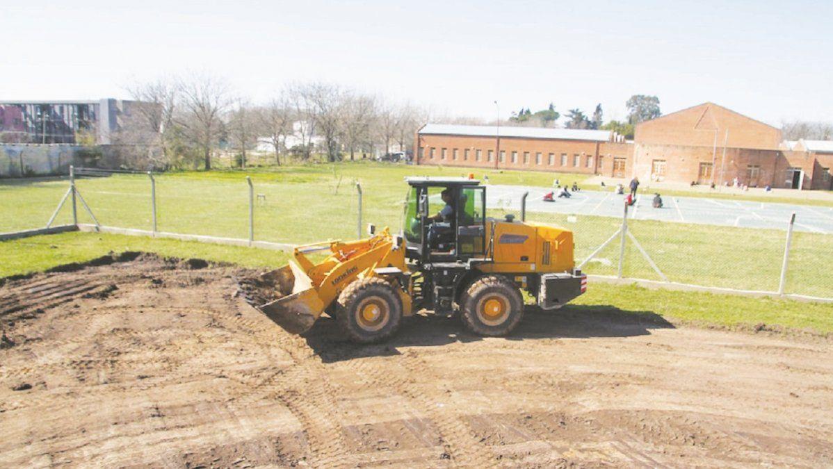 Comenzaron a construir la Escuela Primaria 30 en San Vicente