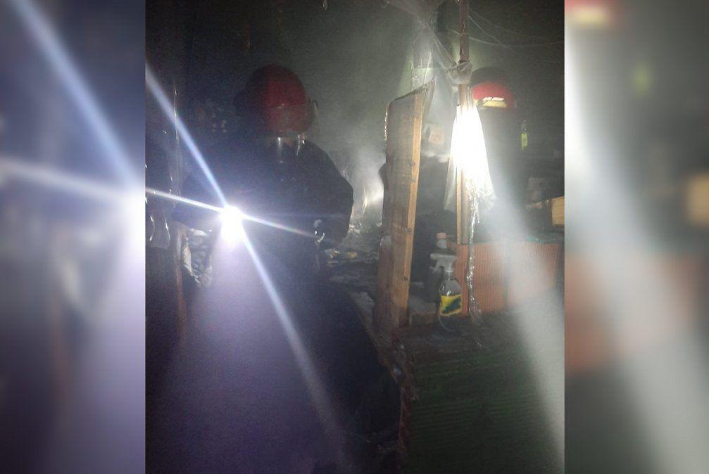 Incendio en una remiseria de Almirante Brown