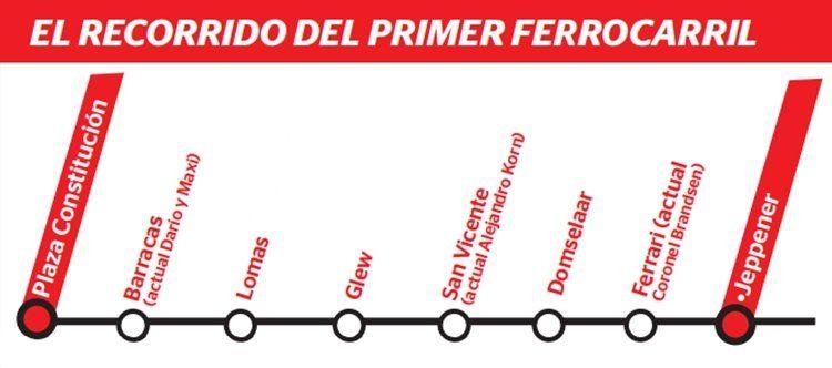 El recorrido del primer tren que pasó por la región.