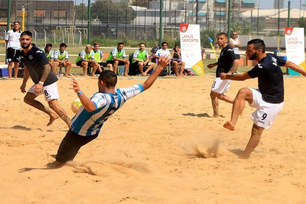 Lanús: la AFA realizará partidos de futbol playa en el Velódromo municipal