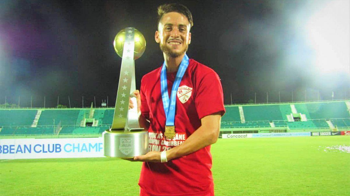 Futbolista de Monte Grande hace historia en el Caribe