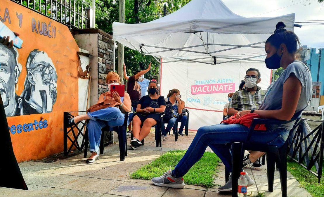 Monte Grande: comenzó la vacunación en la sede de Suteba