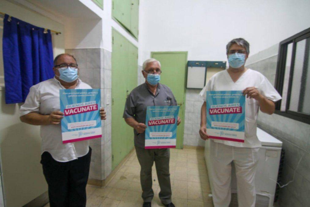 La entrega de segundas dosis en San Vicente se enmarca dentro del plan provincial Vacunate PBA.