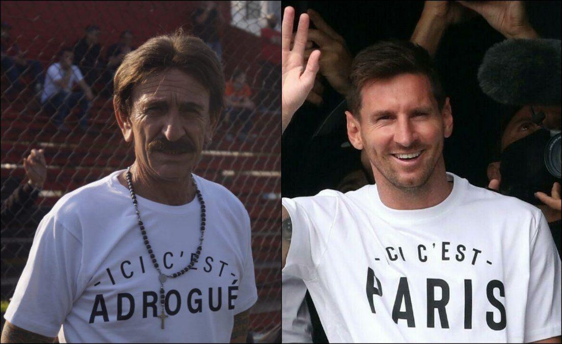 A lo Messi: la remera del técnico de Brown de Adrogué que se hizo viral