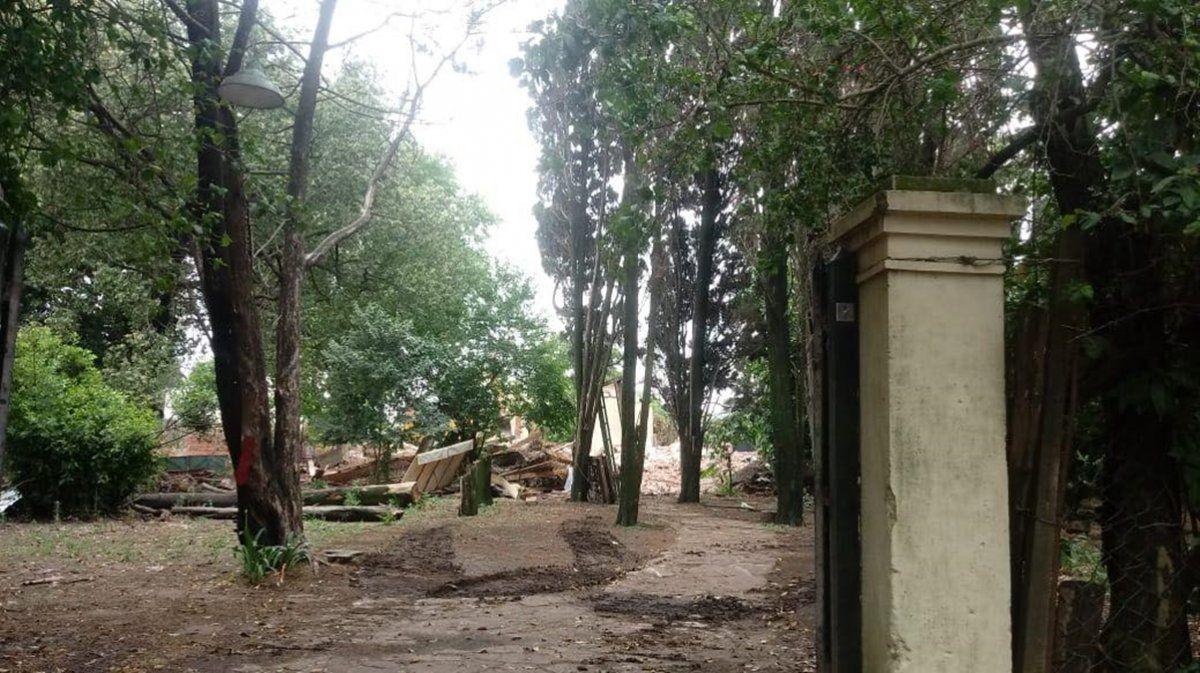 Demolieron una casa de Llavallol con más de 100 años de historia