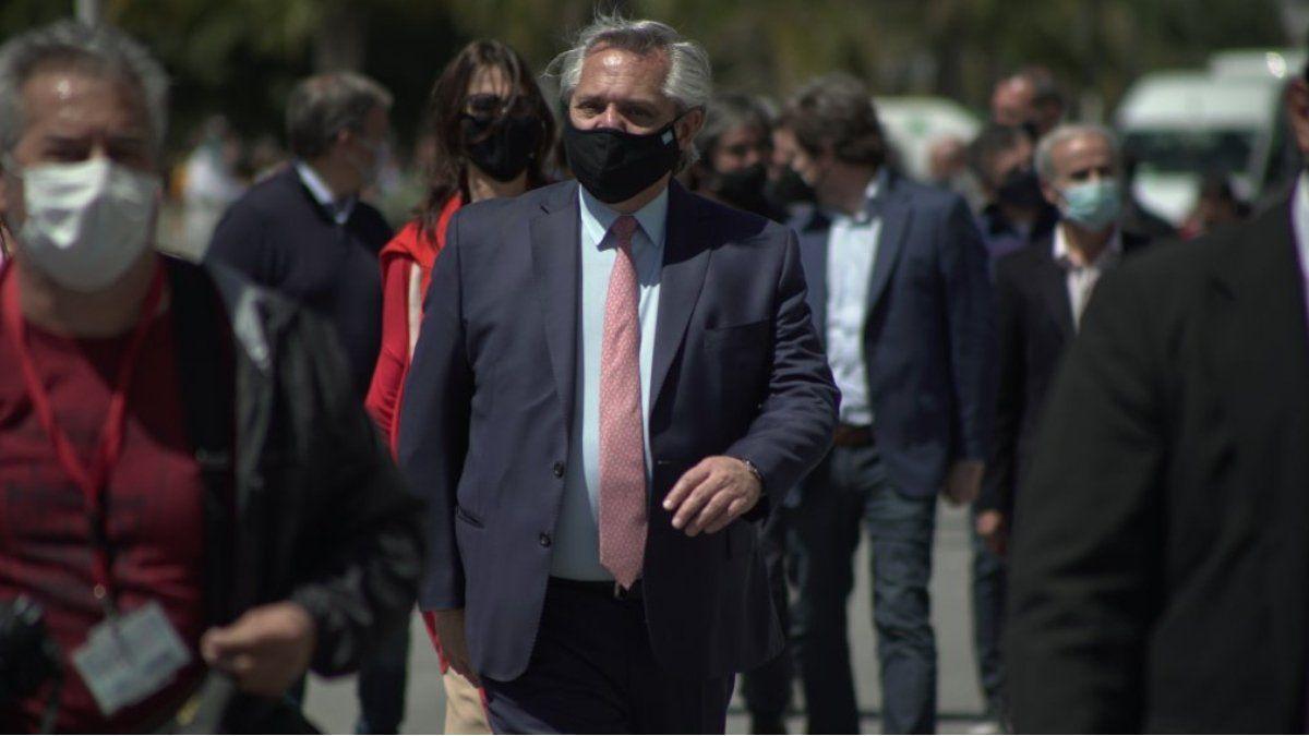 Alberto Fernández encabeza este martes un acto en Ezeiza