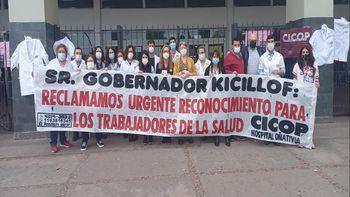 Protesta de trabajadores del Hospital Oñativia: piden mejoras salariales y laborales