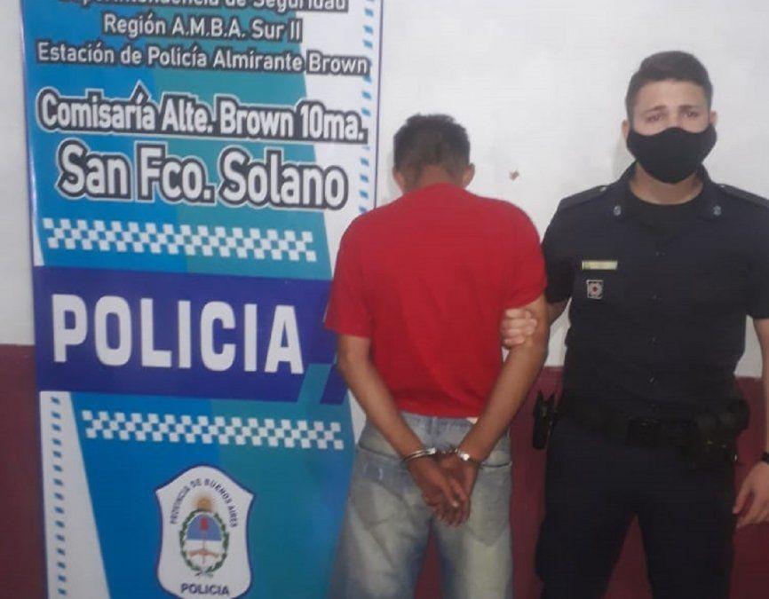 Dos menores detenidos en Almirante Brown por el robo a María Fernanda Álvarez.