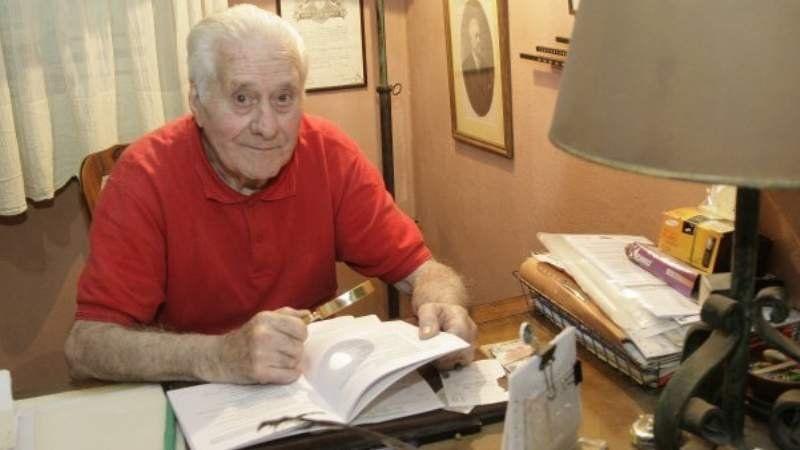 El historiador echeverriano Pedro Campomar celebra sus 95 años