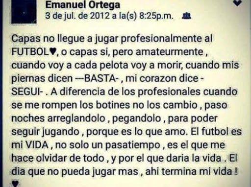 Seis años sin Emanuel Ortega: la muerte que marcó un antes y después en el fútbol