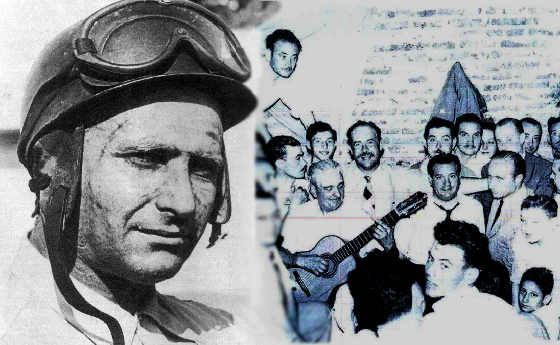 Juan Manuel Fangio, un habitué de Monte Grande