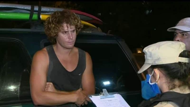 El surfer que fue demorado sobre la Panamericana por no cumplir la cuarentena es vecino de Canning